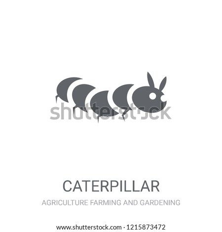 Caterpillar icon. Trendy Caterpillar logo concept on white background from Agriculture Farming and Gardening collection. Suitable for use on web apps, mobile apps and print media.