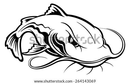 meerval free vector art 24 free downloads Mekong Giant Catfish stock vector catfish 264143069