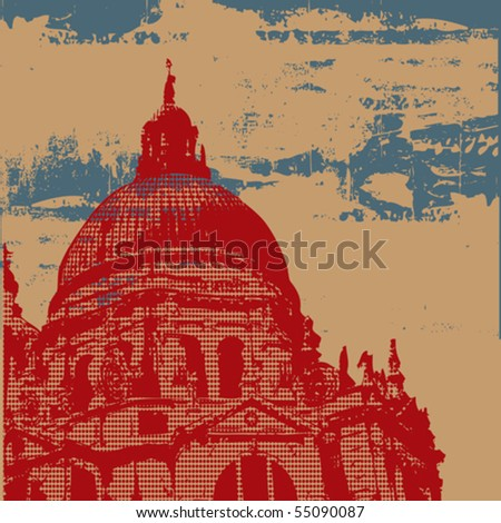 Cathedral Grunge Background