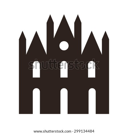 cathedral icon isolated on