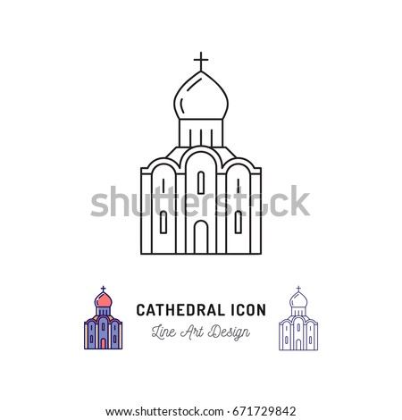 cathedral icon thin line art