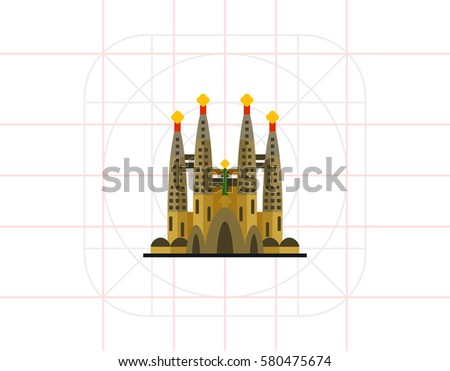 Shutterstock Catholic church Sagrada Familia icon