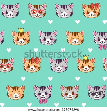 cats cats seamless pattern