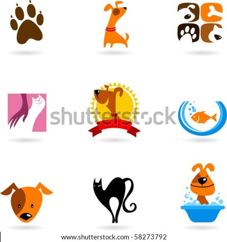 cats  dogs and other pet icons