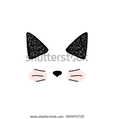 cats  isolated of cute doodle