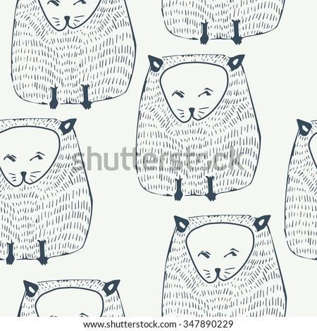 cats seamless pattern animal