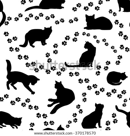 cats seamless pattern cat