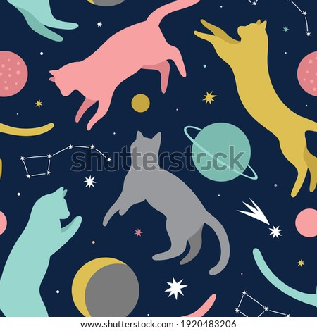 cats space background cosmic