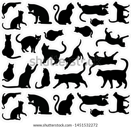 cats templates stacked stickers collection