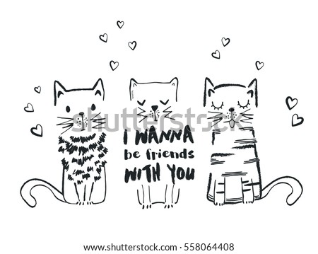 cats vector  t shirt print