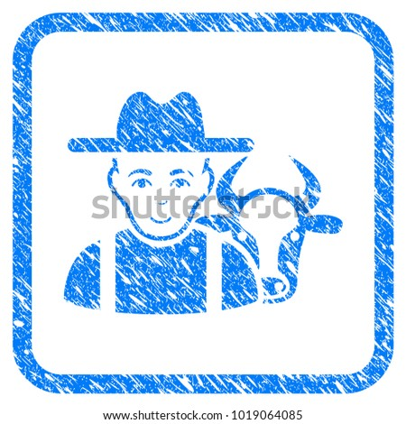 cattle farmer rubber seal stamp ...