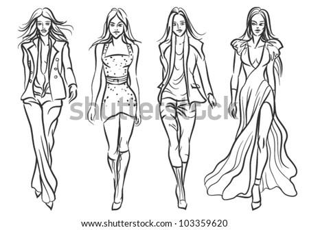 Model Catwalk Catwalk Fashion Models
