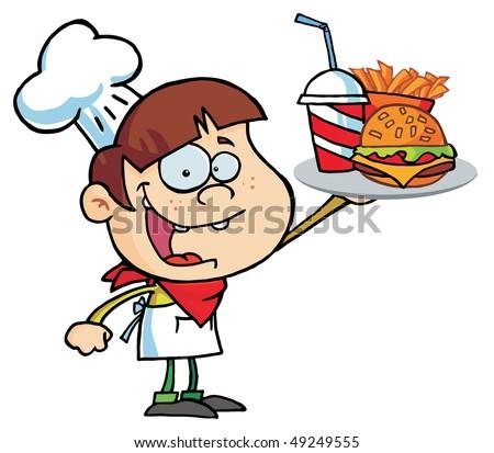 Royalty-Free Stock Photo: Caucasian Burger Boy.