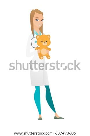 caucasian pediatrician doctor