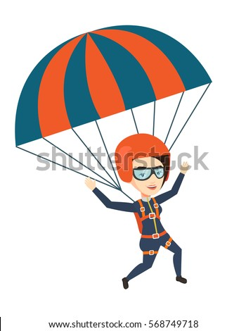 caucasian woman flying with a...
