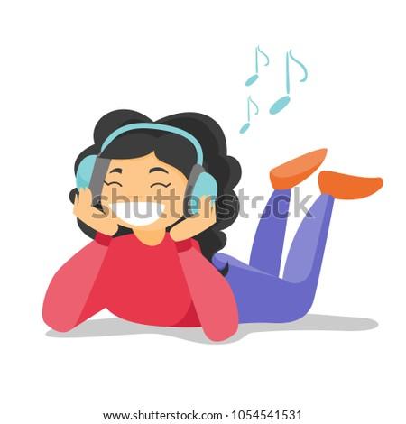 caucasian woman listening to