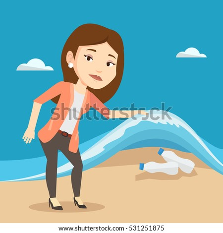 caucasian woman showing plastic