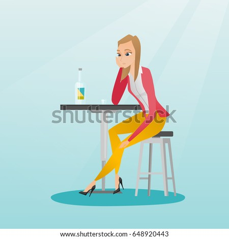 caucasian woman sitting in the