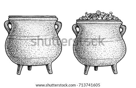 cauldron illustration  drawing  ...