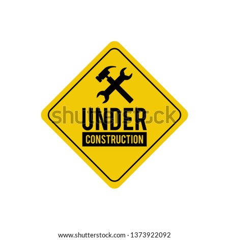 caution attention symbol illustration. under construction icon symbol with red triangle