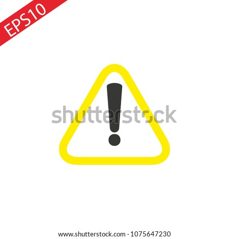 Caution icon outline vector on white background.