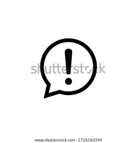 Caution icon vector. Warning icon symbol. Exclamation Mark icon in bubble vector