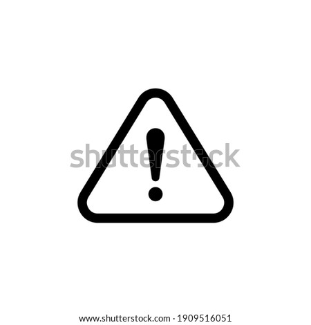 Caution line icon vector. Exclamation mark icon vector illustration