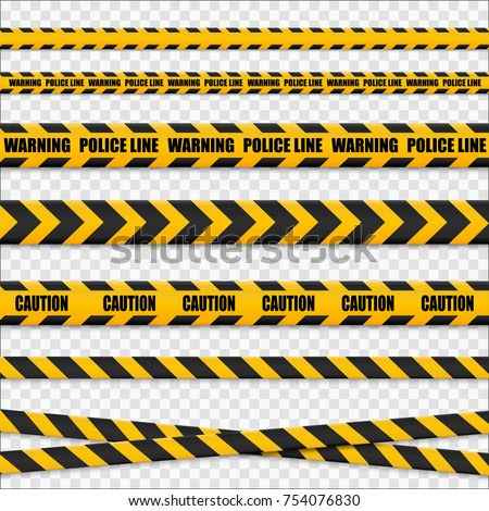 caution lines isolated. warning ...
