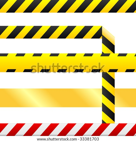 Caution or cuidado warning tape. Tape is blank so custom text can be ...