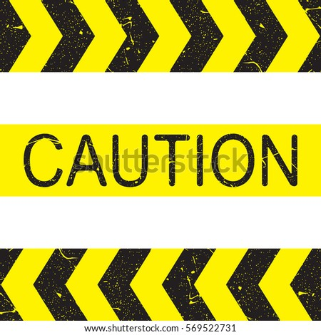 caution sign arrow yellow and