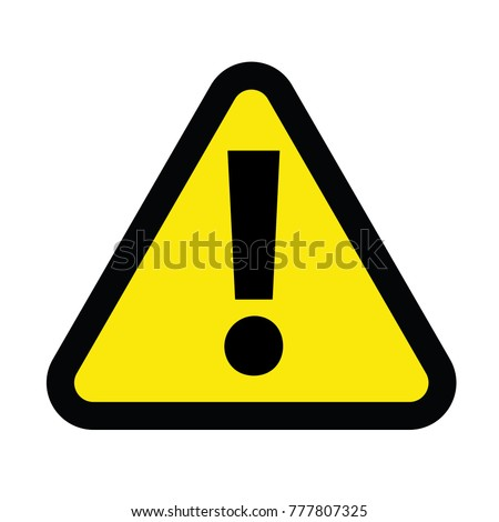 caution sign for danger sign vector icon