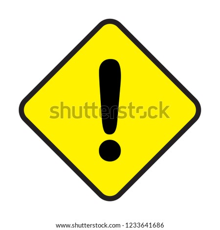 caution sign icon vector, modern concept, simple design, avoid and danger symbol #1233641686