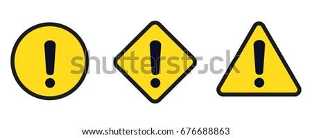 caution sign.set caution icons.