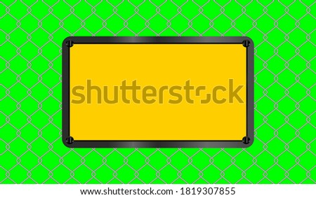 caution sign yellow rectangle