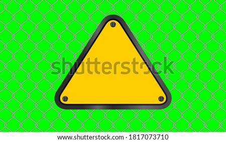caution sign yellow triangle