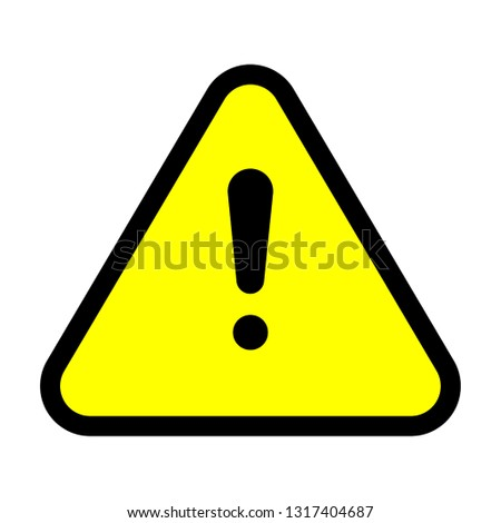 Caution sign yellow vector illustration. #1317404687