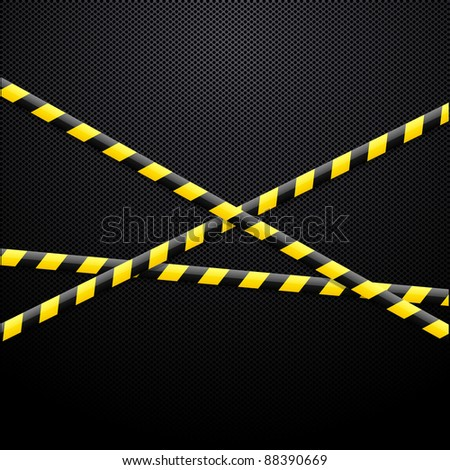 Caution tape on black background