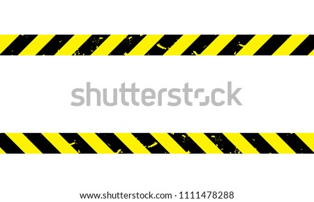 Caution - Tape - Under construction - Vector template eps10 - Isolated on the white background