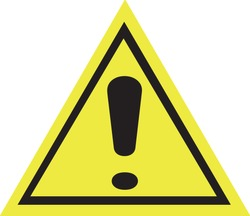 Caution warning sign high definition vector art.