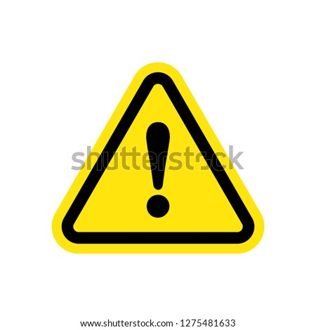Caution Warning Sign Sticker. Editable vector stroke 64x64 Pixel