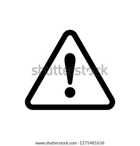 Caution Warning Sign Sticker. Editable vector stroke 64x64 Pixel