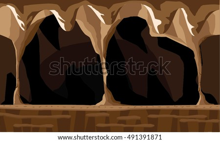 cave background illustration