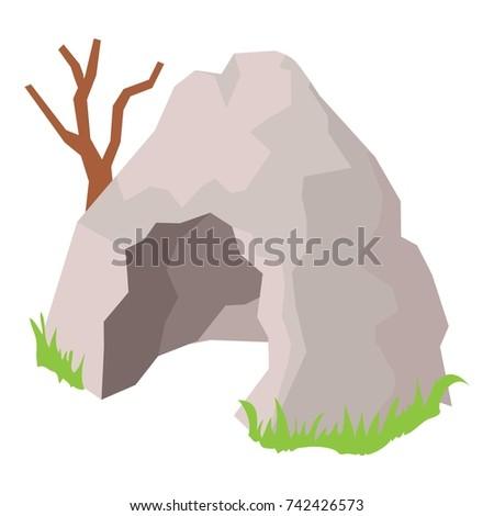 cave icon isometric