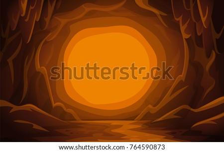 cave landscape cartoon