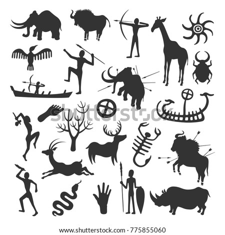 cave painting set simple