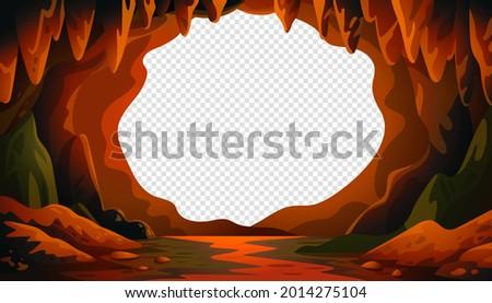 cave vector background  cartoon