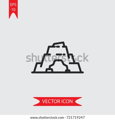 cave vector icon  illustration