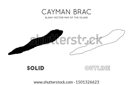 Cayman Brac map. Blank vector map of the Island. Borders of Cayman Brac for your infographic. Vector illustration.