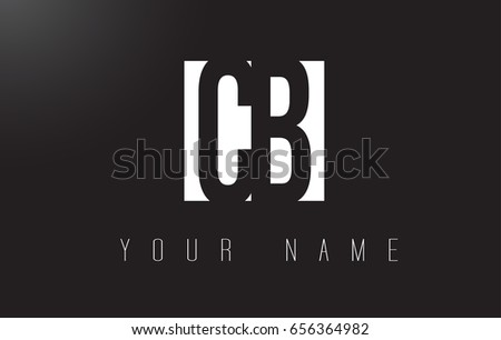 CB Letter Logo With Black and White Letters Negative Space Design.