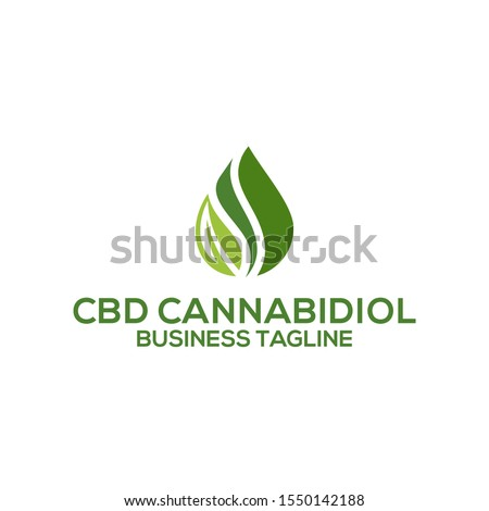 CBD Oil.Marijuana leaf. Medical cannabis. Hemp oil. Cannabis extract. Icon product label and logo graphic template. Isolated vector illustration Stock photo ©